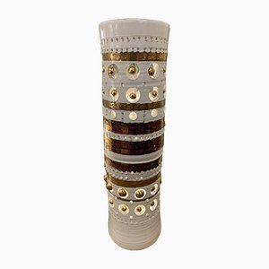 Ceramic Totem Table Lamp by Georges Pelletier, 2000s