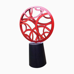 Model Red Light Outdoor Large Abstract Steel Painted Sculpture