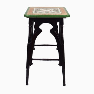 Vintage Arts & Crafts Side Table by Waechtersbach Faience