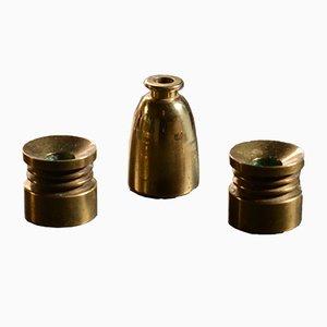 Brass Candleholders by Hans-Agne Jakobsson for Hans-Agne Jakobsson AB Markaryd, 1960s, Set of 3