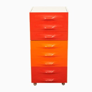 Mid-Century Model DF 2000 8-Drawer Dressing Table by Raymond Loewy for Doubinsky Frères, 1960s