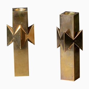 Brass Candleholder by Pierre Forsell for Skultuna, 1970s