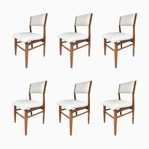 Esszimmerstühle im Stil von Gio Ponti, 1960er, 6er Set