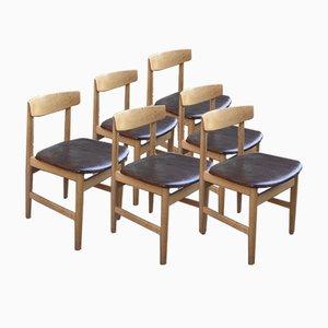 Chaises de Salon Style Hans J. Wegner, 1960s, Set de 6