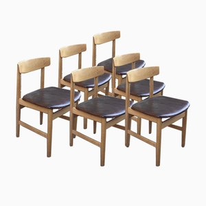 Dining Chairs in the Style of Hans J. Wegner, 1960s, Set of 6