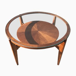Art Deco Style Coffee Table with Glass, 1950s