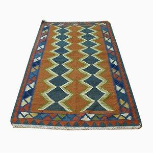 Vintage woolen Kilim Carpet, 1990s