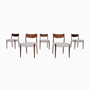 Mid-Century Dutch Teak Dining Chairs from Pastoe, 1950s, Set of 5