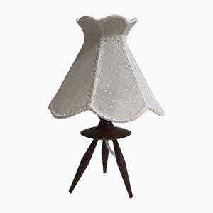 Danish Teak Tripod Table Lamp, 1960s