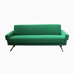 Divano Mid-Century verde smeraldo, Italia
