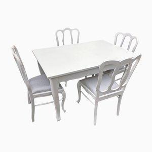 Esstisch & Stühle Set, 1960er, 5er Set