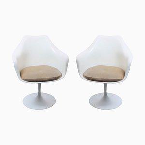 Sillas giratorias Tulip de Eero Saarinen para Knoll Inc. / Knoll International, años 60. Juego de 2