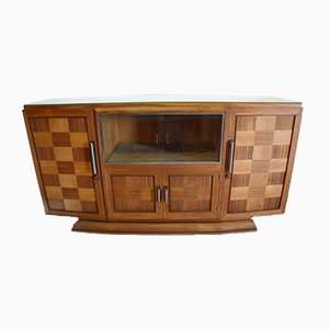 Kariertes Art Deco Sideboard, 1930er