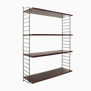 Metal and Teak Shelving Unit, 1960s