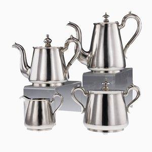Antikes russisches Matched Tee- und Kaffeeset aus massivem Silber von Johan Ferdinand Olsonius, 1870er, 4er Set