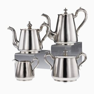 Antique Russian Solid Silver Matched Tea & Coffee Set from Johan Ferdinand Olsonius, 1870s, Set of 4