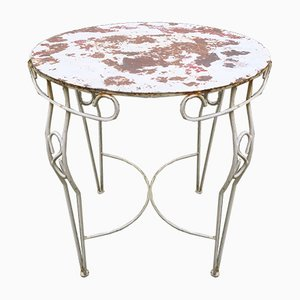 Mid-Century Painted Iron Garden Table, 1950s