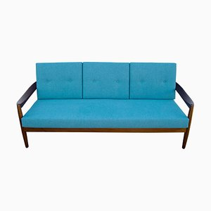 Petroleum Colored Sofa, 1960s