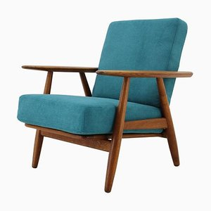 Oak GE 240 Cigar Lounge Chair by Hans J. Wegner for Getama, 1960s