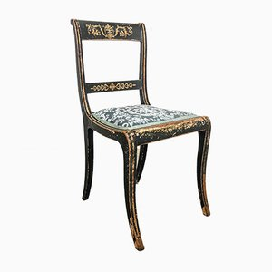 Antique English Regency Chair with Gilt Details