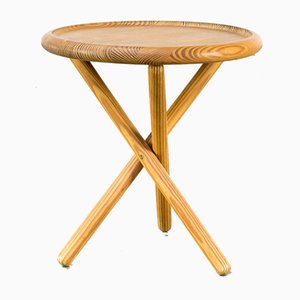 Pine Tripod Side Table Attributed to Jorgen Buchwald, 1960s