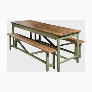 Table with Benches, Set of 3