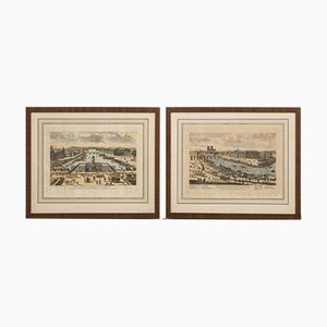 Antique Etchings of Paris, Set of 2