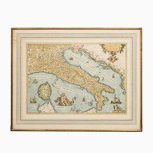 Carte de l'Italie d'Ortelius
