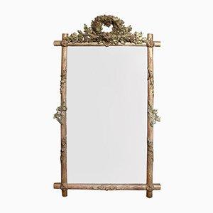19th Century Faux Bois Mirror