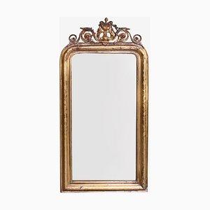 Antiker Spiegel mit Harpmotiv