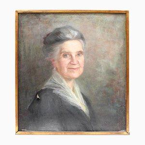 Kreide Portrait einer Dame