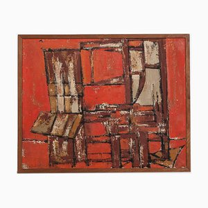 Abstract Painting by Antoine Pentsch, 1957