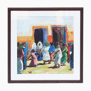 Marrakech Painting by Miftah El Kheir, 1970s