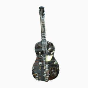 Specchio a forma di chitarra vintage in vetro, anni '60