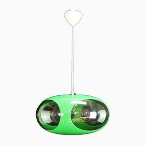 Plafonnier Vintage Vert par Luigi Colani