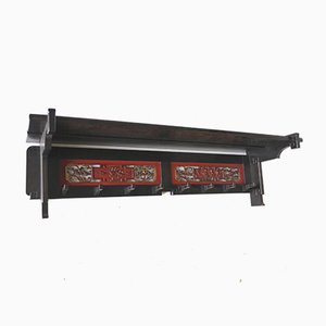 Oriental Lacquered Coat Rack from A.J.Huizinga, 1920s