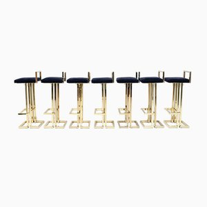 Brass Bar Stool from Maison Jansen, 1970s