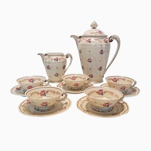Limoges Porcelain Tea Service, 1950s, Set of 12
