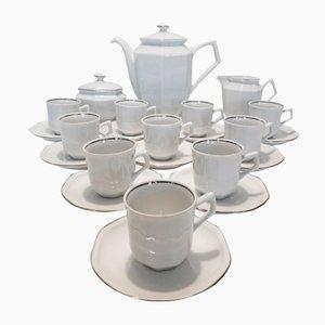 Porcelain Coffee Set from Philippe Deshoulières , 1980s, Set of 23