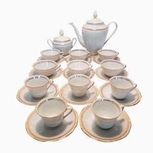 Porzellan Kaffeeservice von Les Porcelaines de Sologne, 1980er, Set of 24