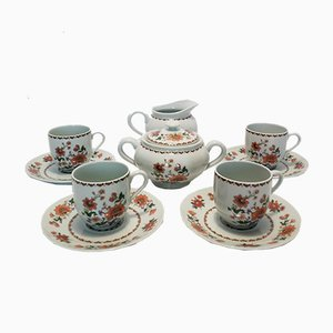 Limoges Porcelain Coffee Set from Chapus Frères, 1950s, Set of 10