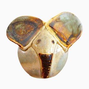 Dänischer Elefant aus Keramik von Trolgen Josef Simons für Søholm, 1970er