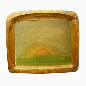 Anthroposophical Basswood Picture Frame, 1920s
