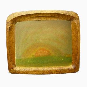 Cornice per foto antroposofica in legno di tiglio, anni '20