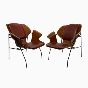 Lounge Chairs Attributed to Vittorio Nobili, 1960s, Set of 2