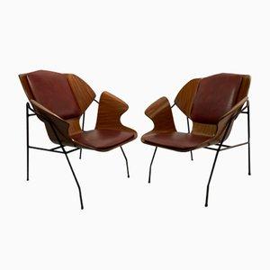 Sessel Zugeschrieben an Vittorio Nobili, 1960er, 2er Set