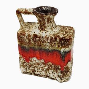 Deutsche Vintage Fat Lava Vase aus Keramik von Jopeko, 1970er