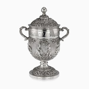 Antique Burmese Solid Silver Athletic Association Hockey Cup, 1900s
