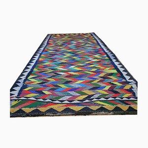 Vintage Kurdistani Nomad Handwoven Kilim Carpet, 1950s