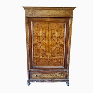 Antique Italian Walnut Wardrobe, 1850s